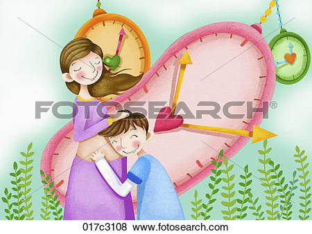Clip Art of blissful parents 017c3108.