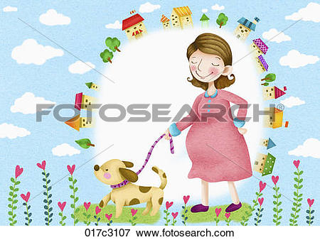Clip Art of blissful mother 017c3107.