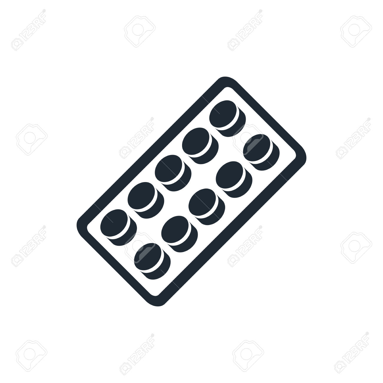 Pills Blister Pack Icon Royalty Free Cliparts, Vectors, And Stock.