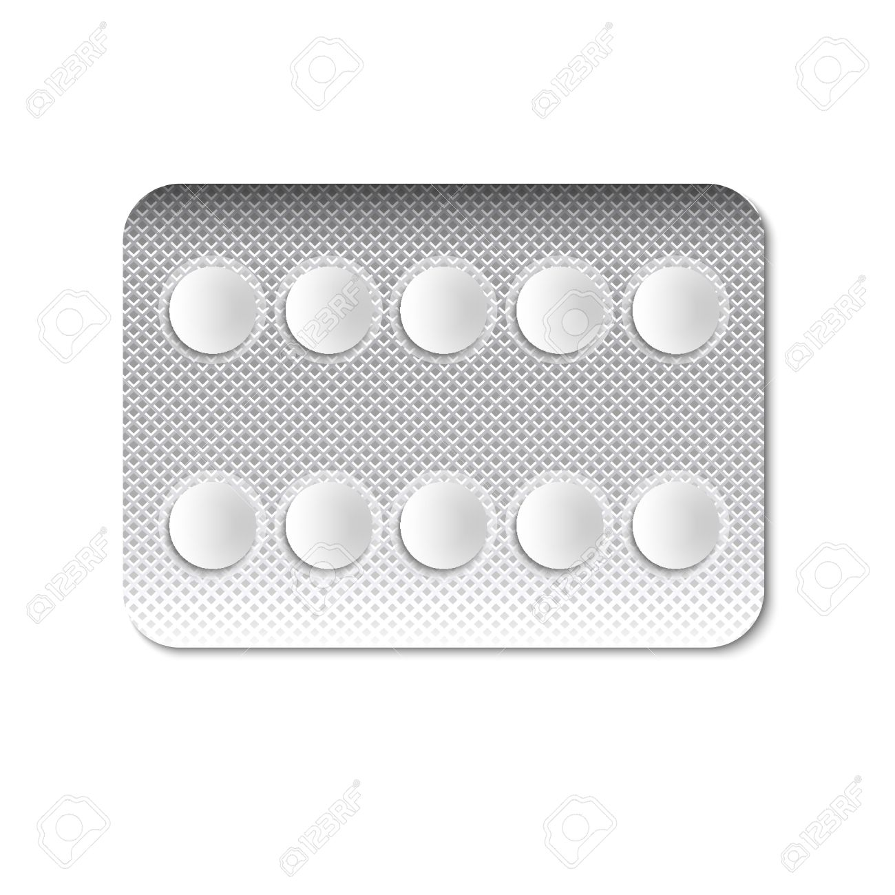 Round Pills In A Blister Pack Illustration Royalty Free Cliparts.