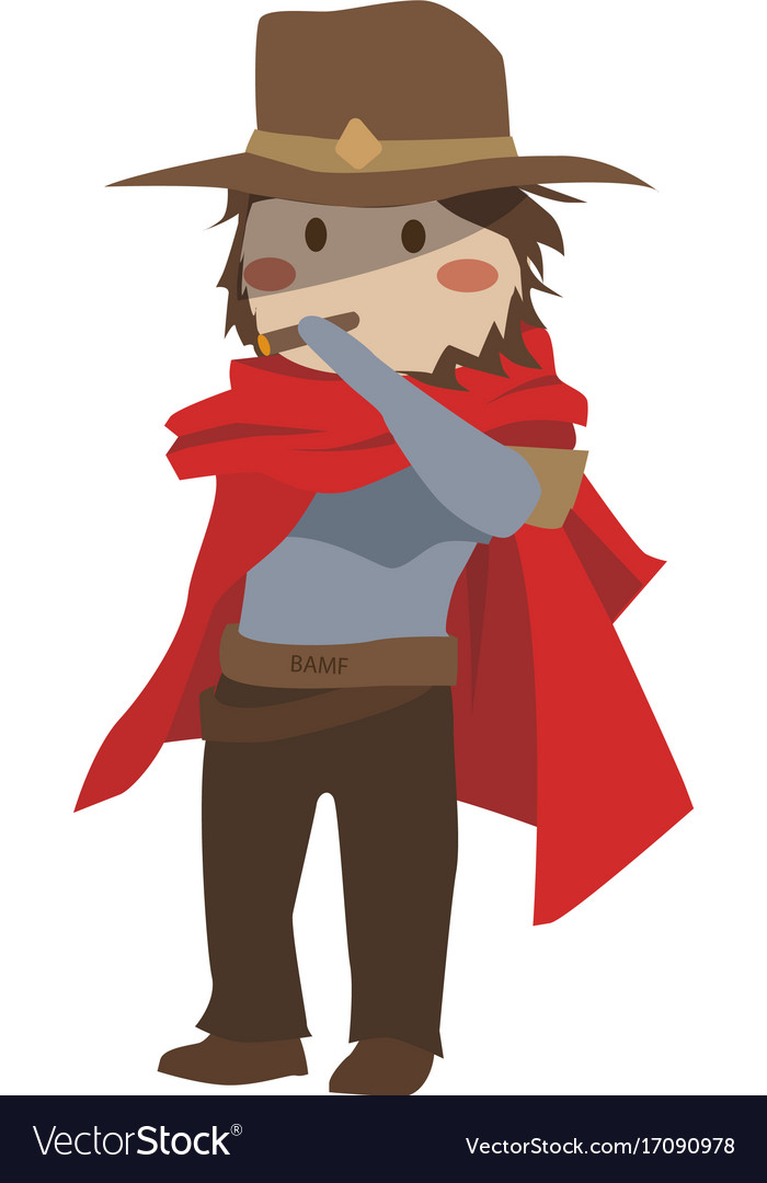 Blizzard overwatch mccree clipart.