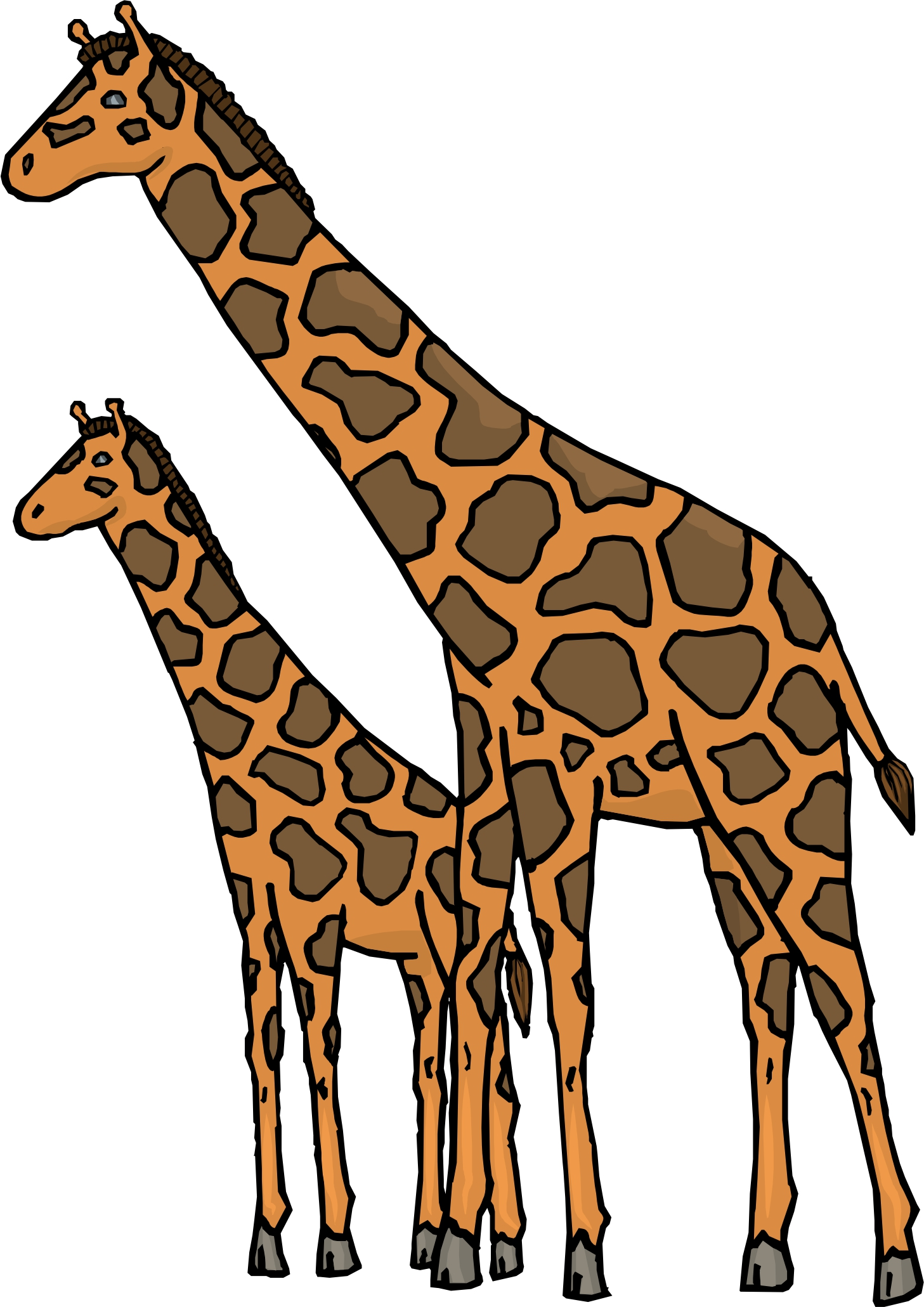 Cartoon Giraffes.