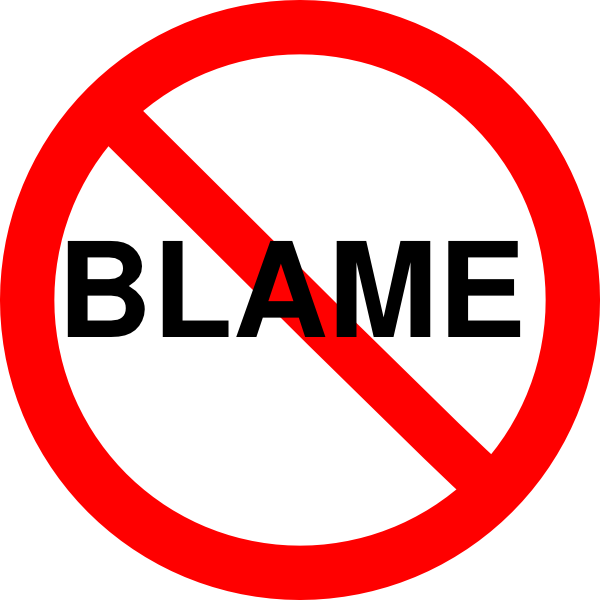 Do Not Blame Clip Art at Clker.com.