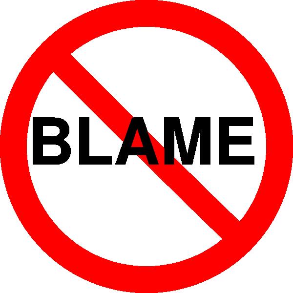 Do Not Blame Clip Art at Clker.com.