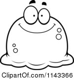 Clipart Pudgy Scared Green Blob.