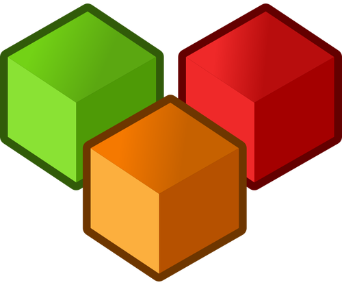 Cubes vector clipart.