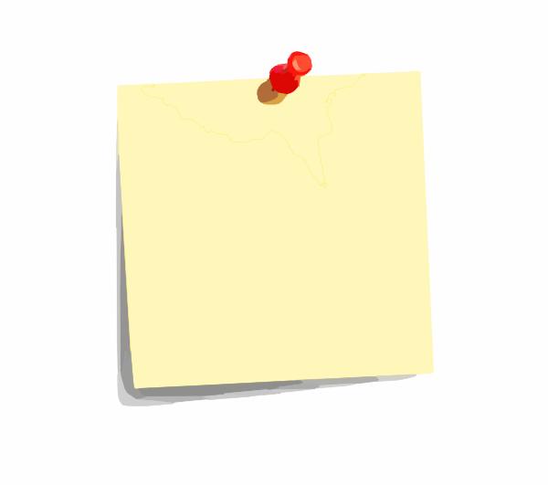 Clipart bloc notes.