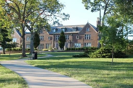 School, Building.