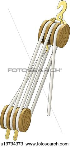 Clipart of Block and Tackle u19794373.