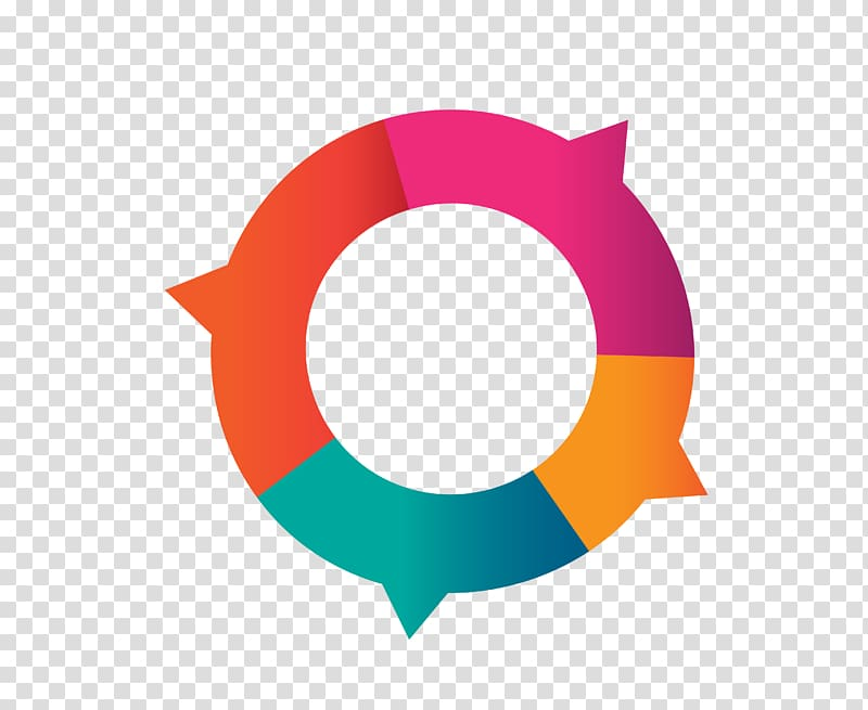 Multicolored round illustration, Circle Arrow, circle with arrow.
