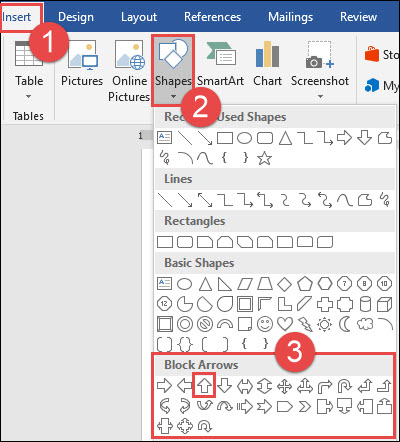 How to Draw and Manipulate Arrows in Microsoft Word.