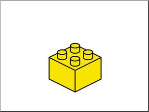 LEGO ClipArt, Building Blocks, FREE CLIPART, Yellow LEGO Block, Clip.
