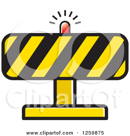 Clipart Of A Construction Road Block