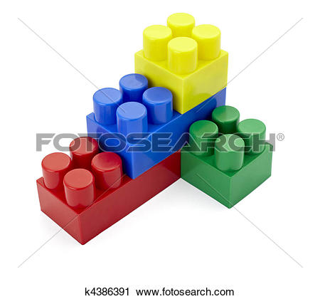 Stock Photography of toy lego block construction education.