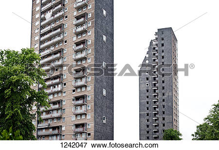 Picture of High rise council flats mid.