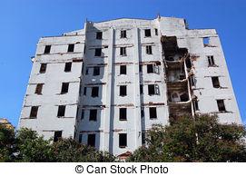 Stock Photo of Block of flats demolition csp13560343.