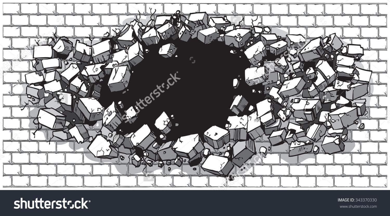 Cartoon Clip Art Illustration Hole Wide Stock Vector 343370330.