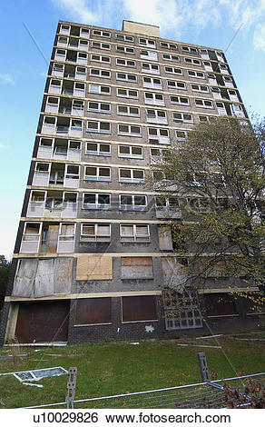 Stock Images of Derelict high.