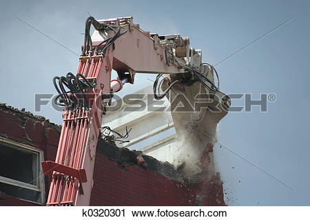 Stock Photography of Demolition of tower block k0320301.