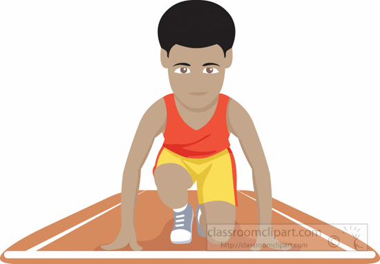 Track and Field Clipart : sprinter.