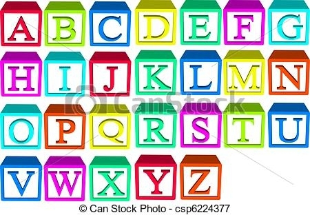 Alphabet Blocks Clipart Vector And Illustration. 4,407 Alphabet.