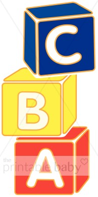 Stacked Block Letters Clipart.