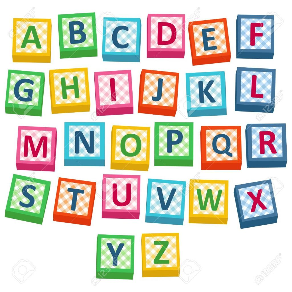 English Alphabet Cubes Illustration Block Letters Clip Art Letter.
