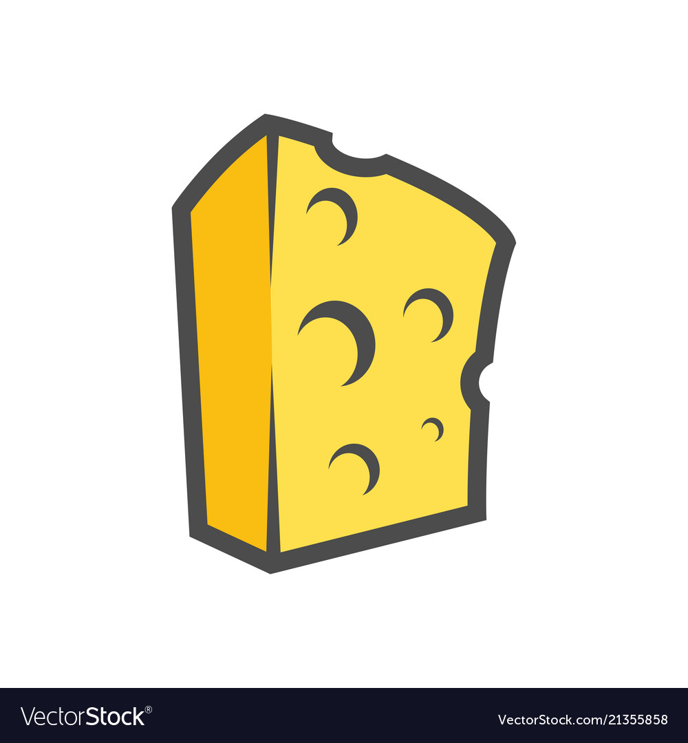 Block of cheese clipart for icon or.