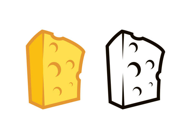 Best Block Of Cheese Illustrations, Royalty.