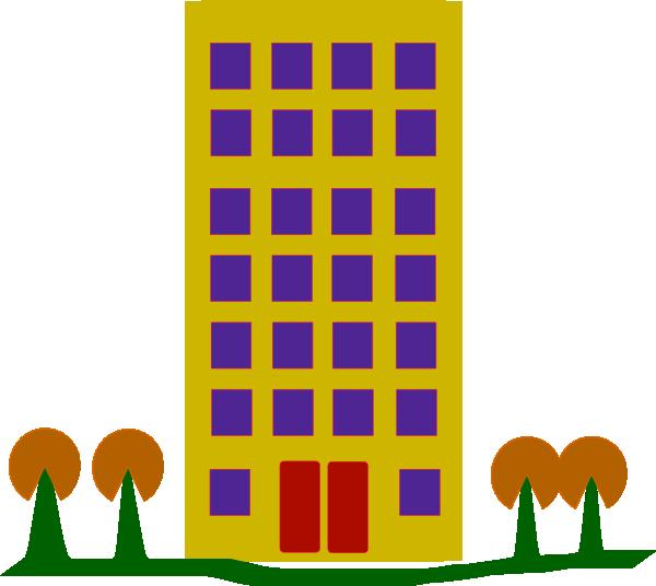 Clip Art Block Of Flats Clipart.