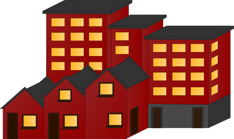 Block of flats clipart.