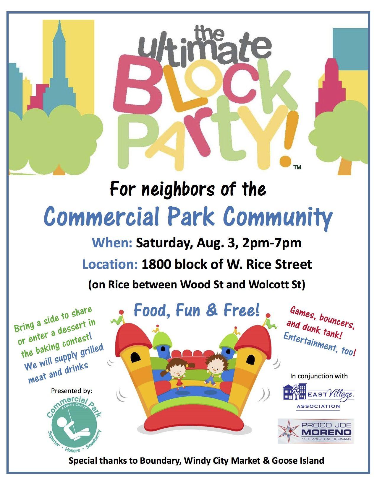 free block party clip art.