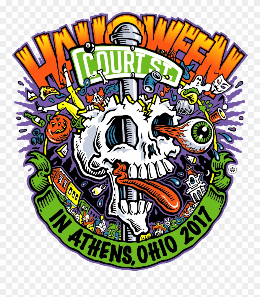 Athens Ohio Halloween Block Party Clipart (#443755).