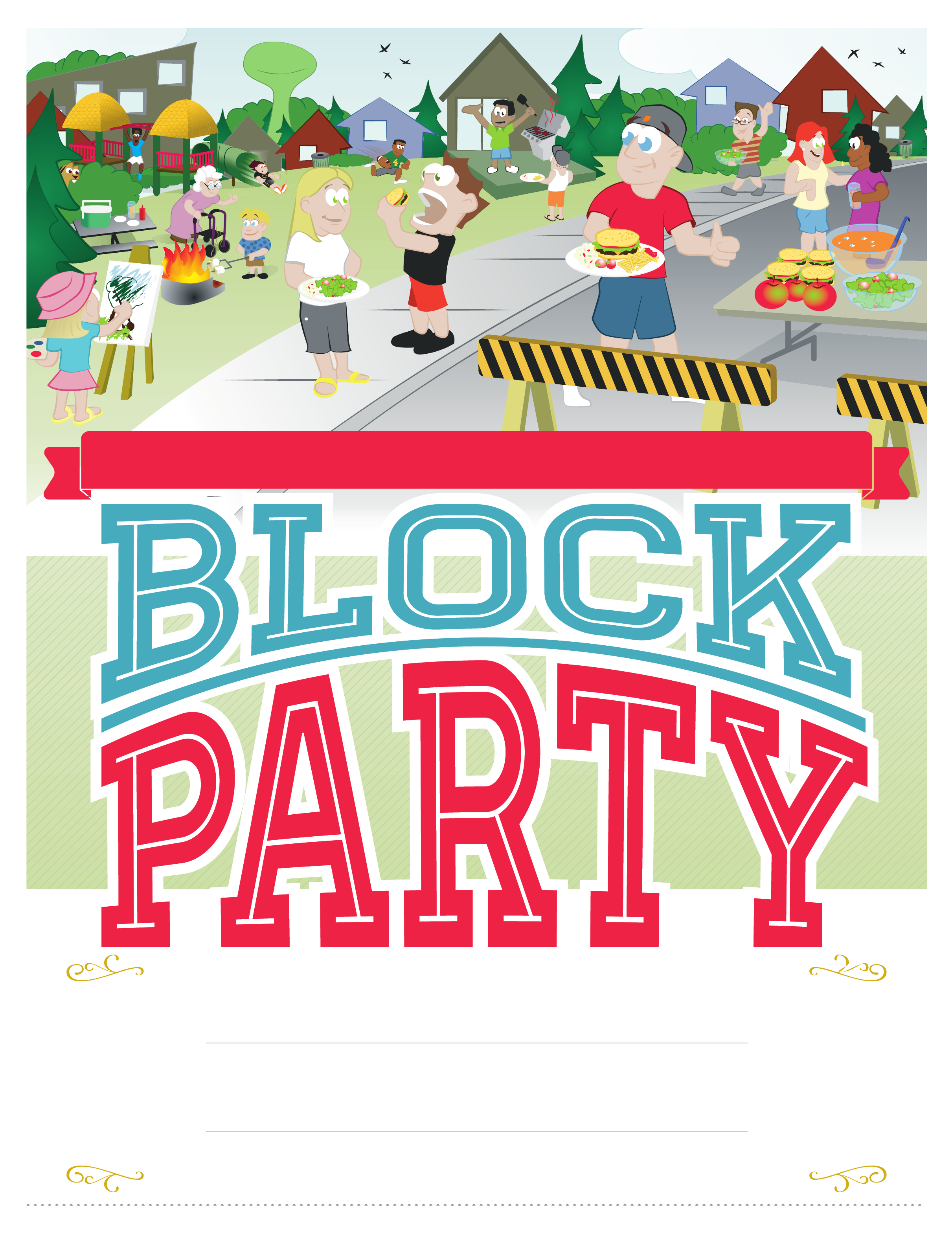 Block Party Clipart (96+ images in Collection) Page 1.