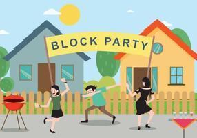 Block Party Free Vector Art.