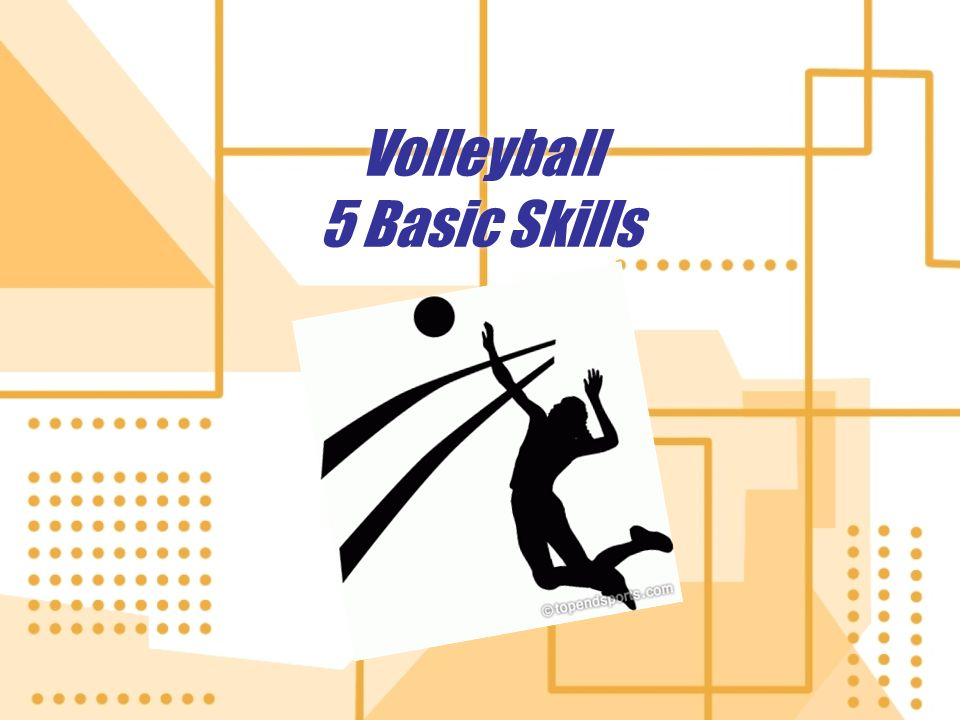 Volleyball 5 Basic Skills. 5 Skills In this presentation you will.