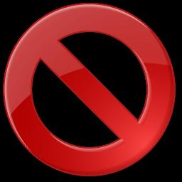 Approve, block, cancel, delete, reject icon.