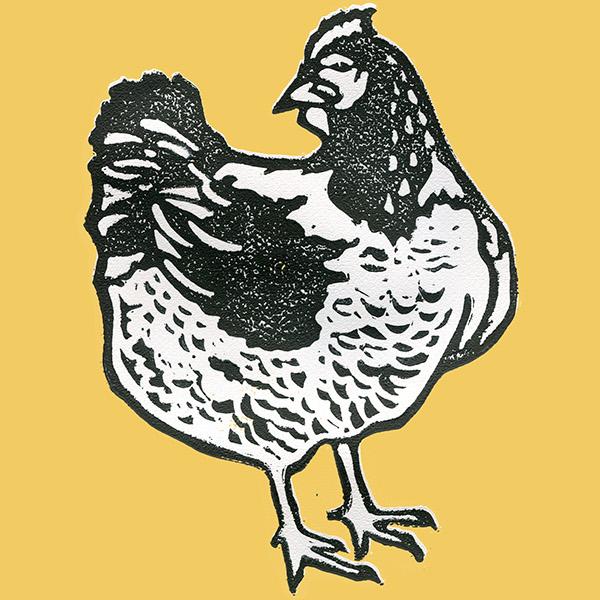 Chicken Block Print on Behance.