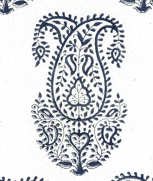 Block printed paisley design from Les Indiennes.