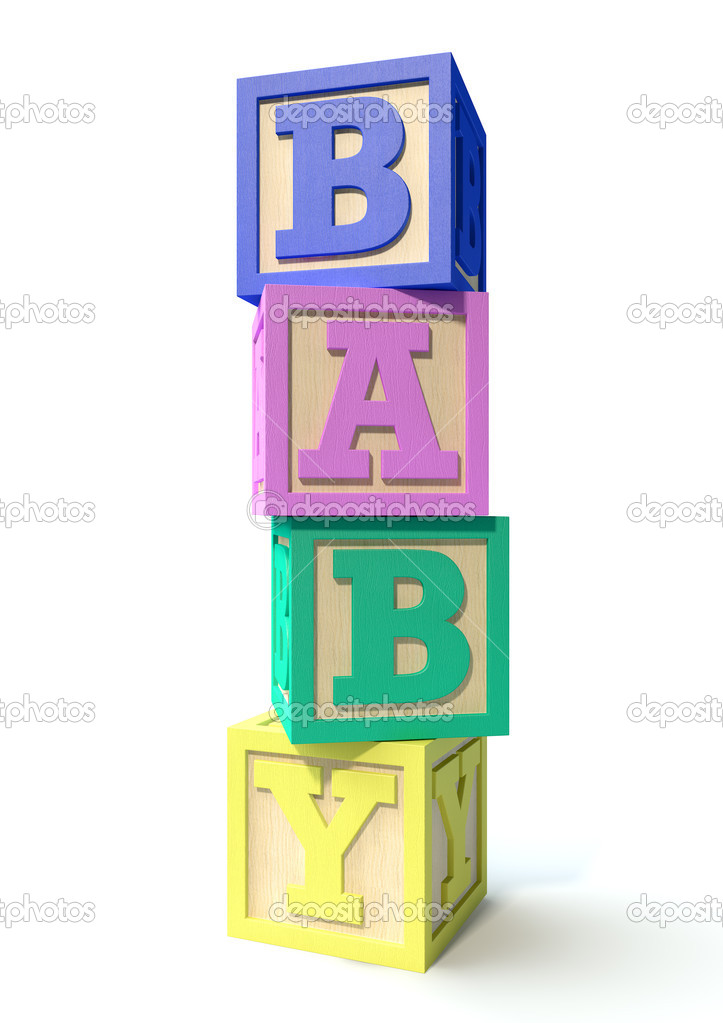Stacked Baby Blocks — Stock Photo © albund #47060035.