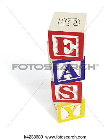 Stock Photograph of Easy Alphabet Block Stack k4238689.