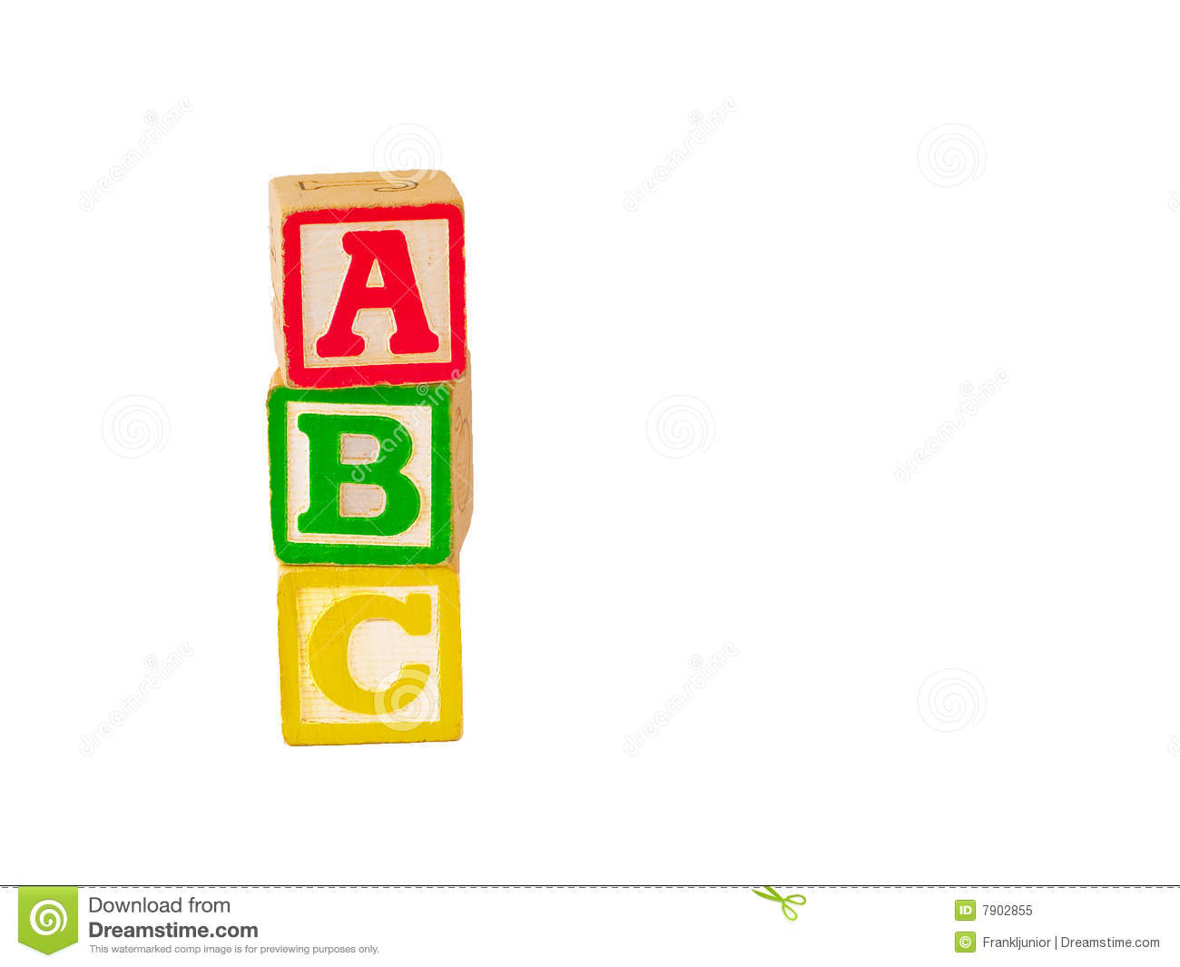 Stacked Abc Blocks Clipart.