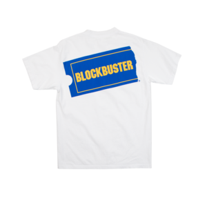 Blockbuster Logo Hit White Tee.