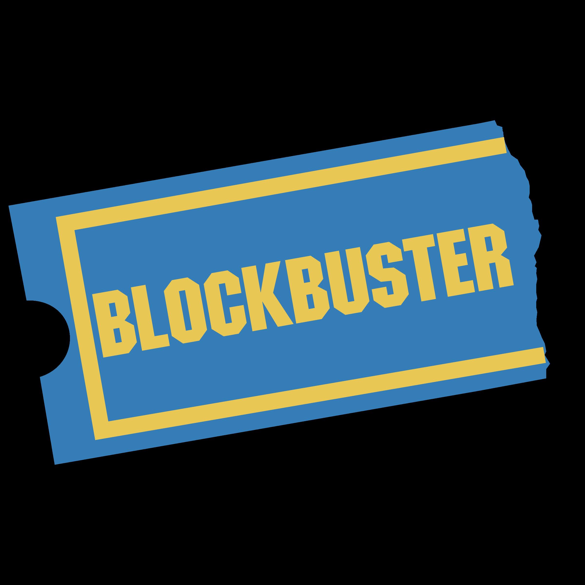 Blockbuster 01 Logo PNG Transparent & SVG Vector.
