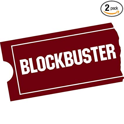 Amazon.com: NBFU DECALS Logo Blockbuster Video (Burgundy.