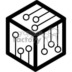 blockchain node vector icon clipart. Royalty.