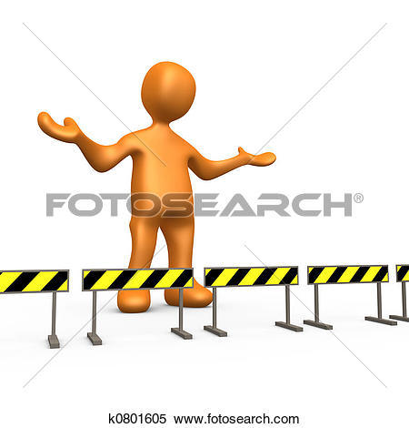 Stock Illustration of Blocked k0801605.