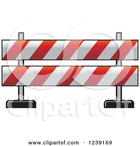 Blocked off road clipart.