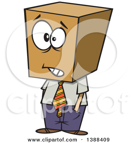 Clipart of a Cartoon Happy Caucasian Business Man Jumping.