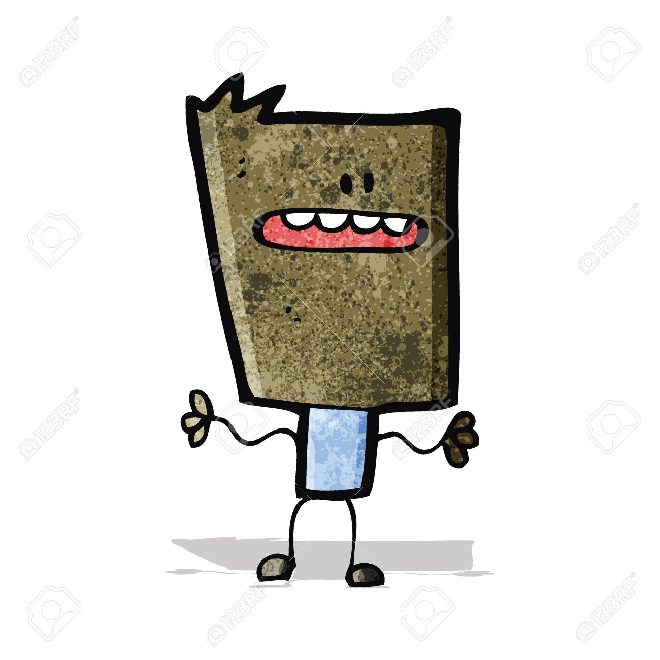 Cartoon Block Head Royalty Free Cliparts, Vectors, And Stock.